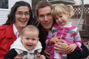 Kelowna Chiropractors Dr. Nicole Barbary, Dr. James Whillans & family