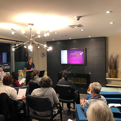 Dr. Emily Wiggin, D.C , presenting.