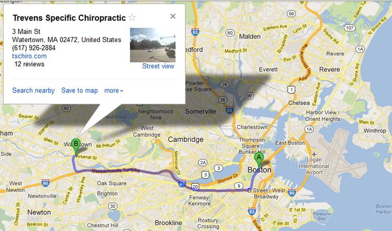 google map trevens