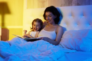 happy family reading