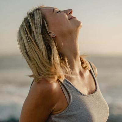 woman neck stretch