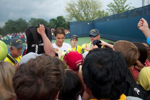 Rafa Nadal signing autographs
