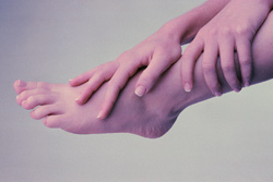 "My feet don't feel like my feet anymore."""
