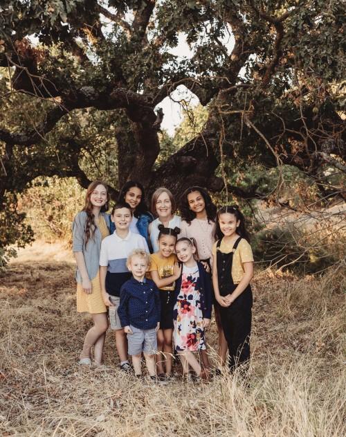 Eileen and her grandchildren