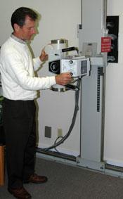 Concord Chiropractor David Abblett taking x-rays