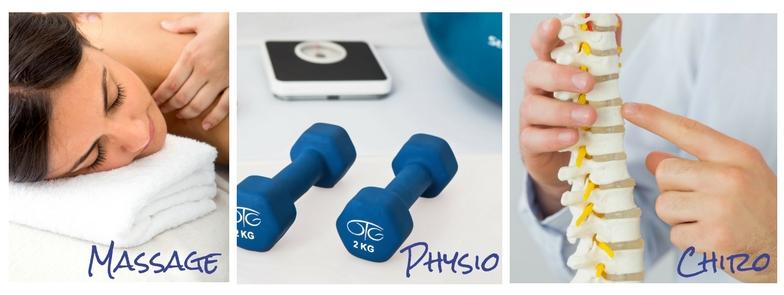 Physio, chiro and massage