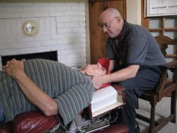 Dr. Steven Schargel adjusting a patient.
