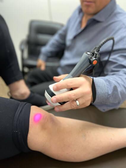 Laser on knee