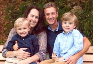 Dr. David Veeneman, Carlisle Chiropractor, with his family.