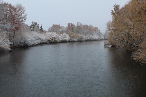 Boise River First Snow, 11-8-20, Ken Swaim