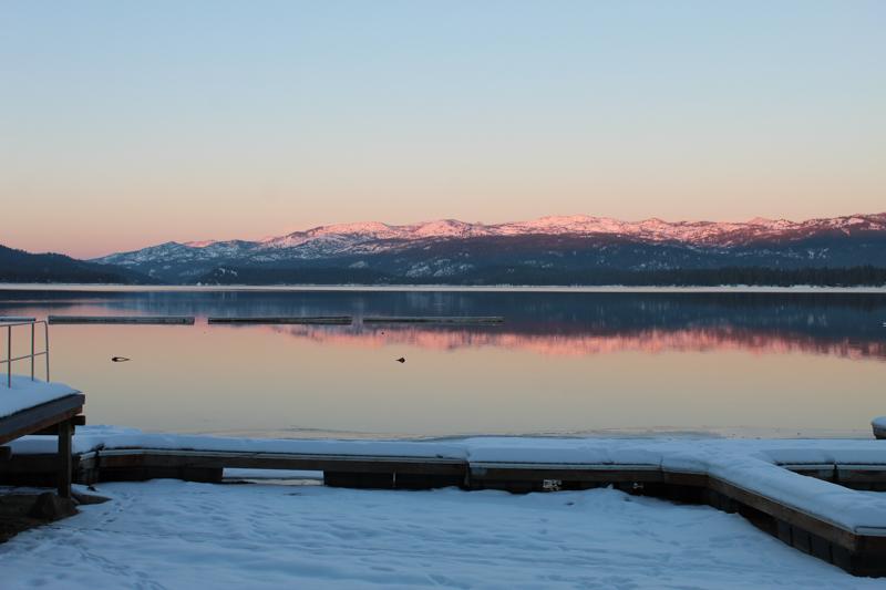 Sunset, Payette Lake - Ken Swaim, 11/29/20