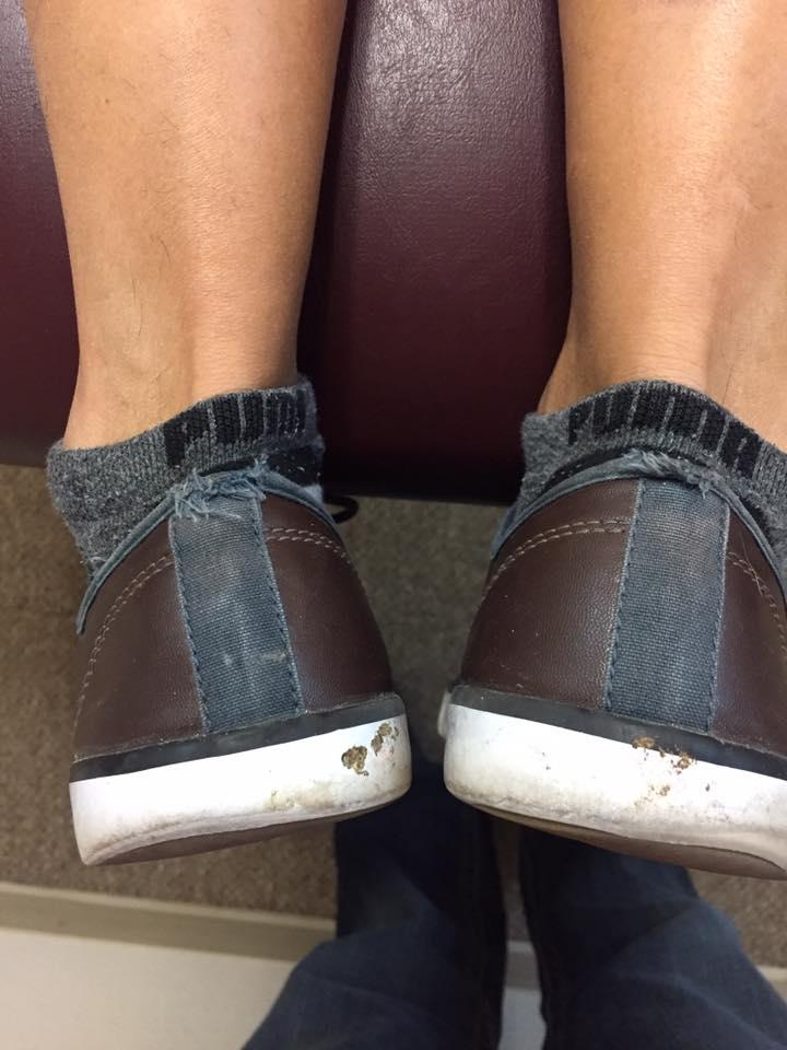 straight brown feet