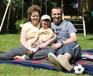 Sandra Barnes & her family