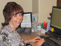Vicki, Receptionist