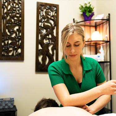 Patient getting a massage