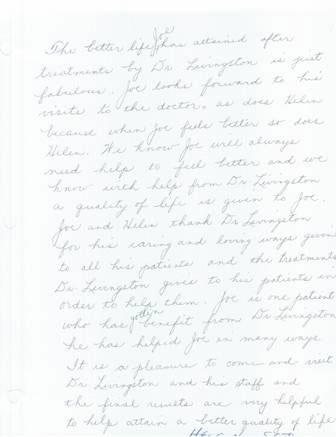 testimonial letter to {PRACTICE NAME} in Delray Beach
