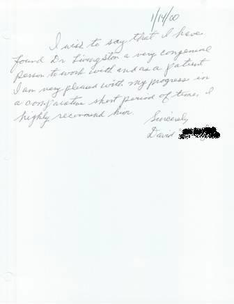 Delray Beach Chiropractor, Dr. Langston testimonial