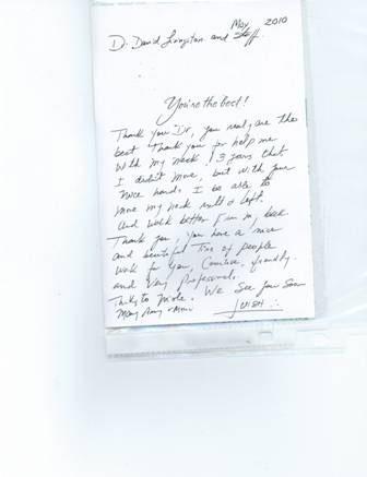 testimonial for Dr. Langston in Delray Beach