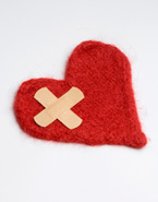 Heart with a band-aid