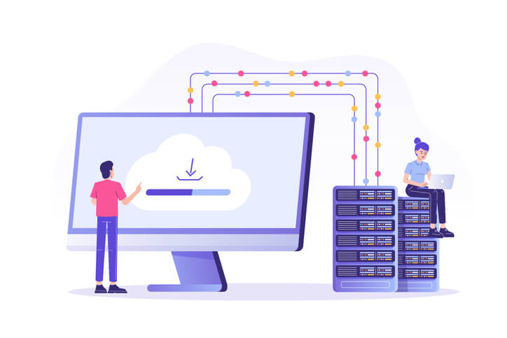 data migration illustration