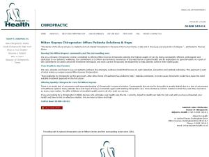 Milton Keynes Chiropractor
