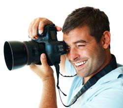 Photographer shooting photo