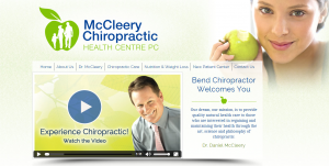 McCleery Chiropractic Practice Website