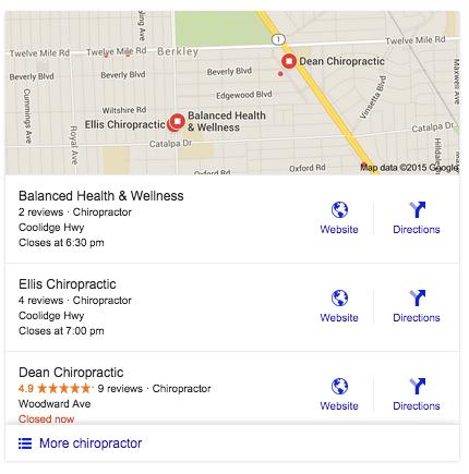 Chiropractor Google Update