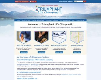 Triumphant Life Chiropractic Website