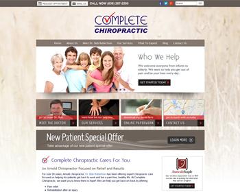 Complete Chiropractic Arnold Website