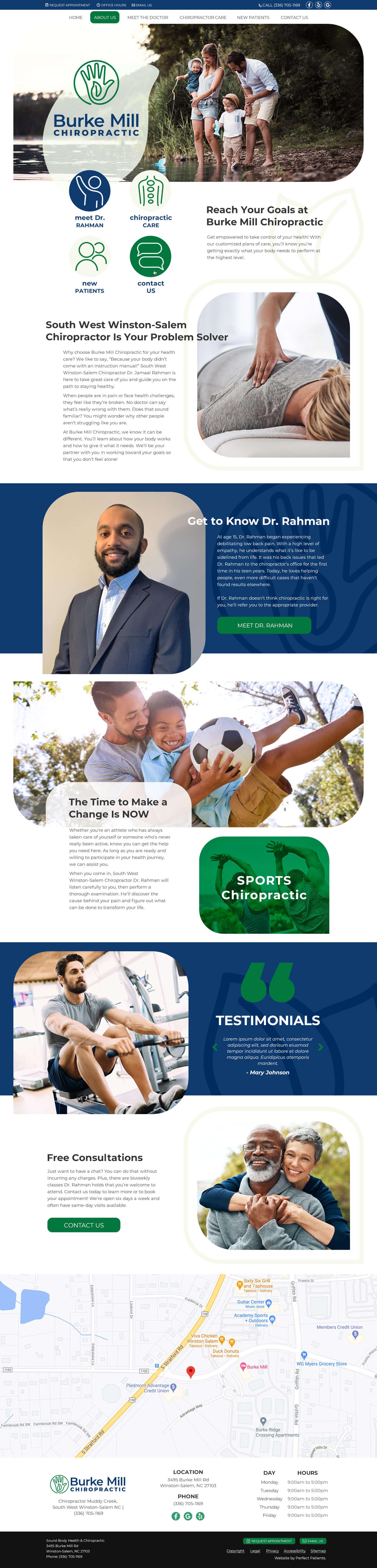 BMC website with stock photos