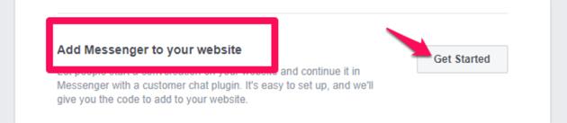 add messenger to website