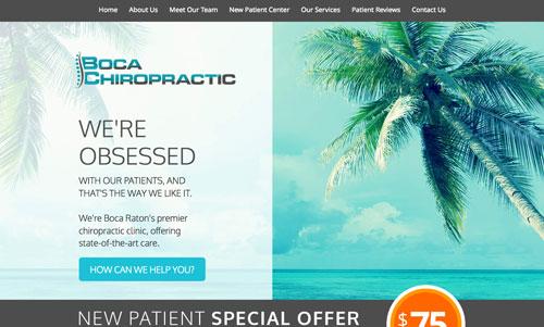 Boca Chiropractic Website