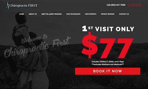 Chiropractic First Website