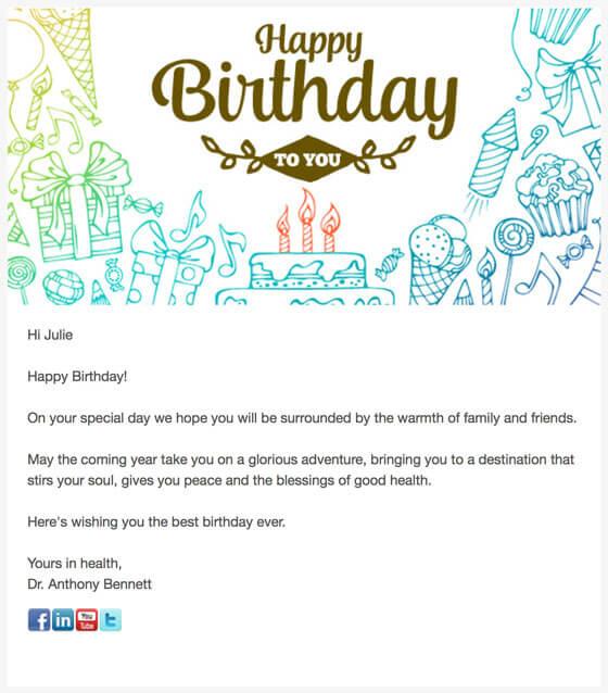 Birthday Email 2017