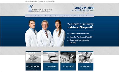 Kirkman Chiropractic Web Design