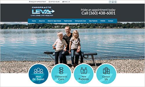 Leva Chiropractic Website Example