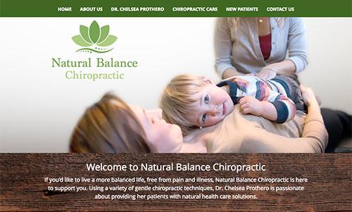 Natural Balance Chiropractic Website