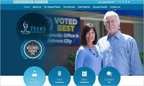 Peeks Chiropractic Website