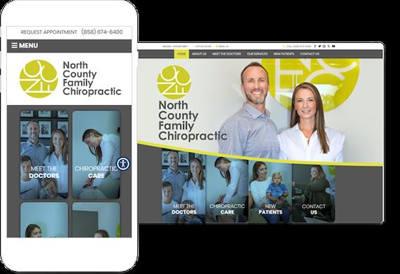 Chiropractic website example