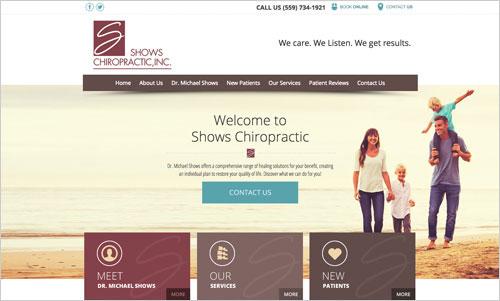 Shows Chiropractic Website