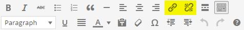 toolbar hyperlink highlighted