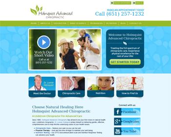 Holmquist Advanced Chiropractic Lindstrom Website