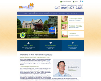 Kim FamilyChiropractic Website