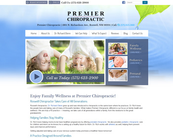 Premier Chiropractic Website