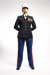 military neck image