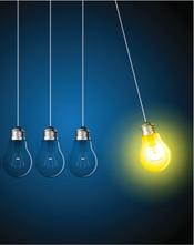Light bulb perpetual motion image