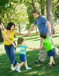 Playful family image