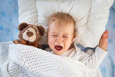 Baby with earache