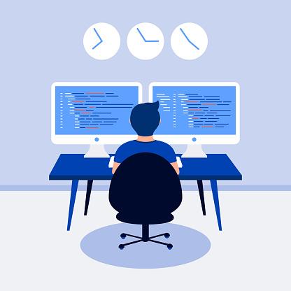Programming design concept.